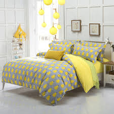 Yellow Bedding Set New Arrival Quality Polyester Pear Yellow Bedding