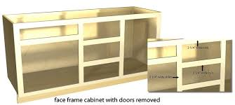 kitchen cabinet face frame dimensions overlay tutorial