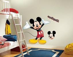 Mickey Mouse Room Decor Mickey Mouse Bedroom Decor With Cartoon Wall Decals Andd Loft Bunk