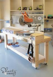 Easy Wood Workbench Plans by Best 25 Miter Saw Table Ideas On Pinterest Miter Saw Wood Shop