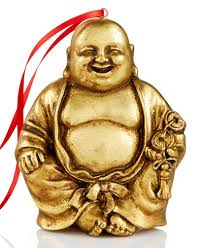 gold buddha ornament created for macy s