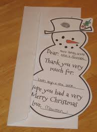 red write returning christmas thank you cards for kids