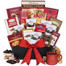 coffee baskets coffee and chocolates gift basket premium by gourmetgiftbaskets