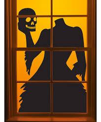 martha stewart halloween decor martha stewart crafts gothic manor headless woman window decal