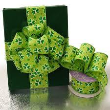 shamrock ribbon st s day shamrock ribbon