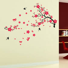 popular plum blossom tree buy cheap plum blossom tree lots from art decal decor large plum blossom flower tree and swallow birds wall stickers new free shipping