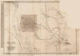 Western Colorado Map by Rare Spanish Manuscript Map Showing The Western Borders Of The
