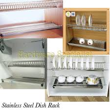 stainless steel 760mm kitchen cabinet dish rack side mounting