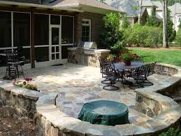 Patio Stone Flooring Ideas by Stone Flooring For Patio With Rustic Feel Patio Flooring Ideas