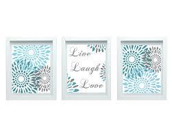 live laugh love decor modern flower print flourish design