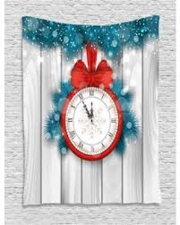 Branch Decorations For Home by Summer Savings On Clock Decor Tapestry New Year Midnight A Clock