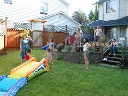 backyard water birthday party garden design garden design with