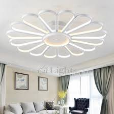 Led Bedroom Lighting Creative Fan Shaped Led Ceiling Light Fixtures For Bedroom