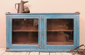 reclaimed wood wall cabinet vintage reclaimed wood bright blue by hammerandhandimports on etsy