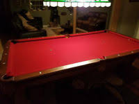 Red Felt Pool Table Brunswick 8ft Pro Pool Table Prestige Model Ebay