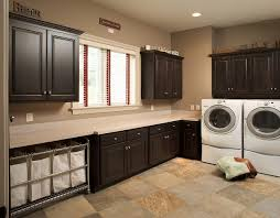 Laundry Room Storage Cabinets by Furniture Large Washing Room With Black Stained Wooden Cabinet