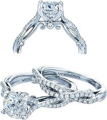 twist engagement ring verragio twist shank diamond engagement ring ins 7050r