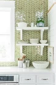 green kitchen backsplash coastal living showhouse white and green kitchen features white