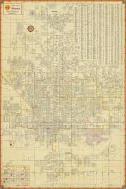 old phoenix map vintage phoenix arizona map print antique