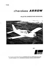 piper pa28r 200 cherokee arrow poh flap aeronautics landing gear