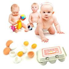 enfant cuisine jaune alimentaire en bois cuisine oeufs produits jouets pour