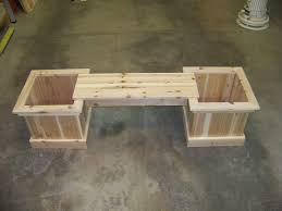 Garden Bench With Planters Garden Bench Planter Container Gardening Ideas