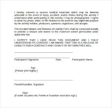 beautiful free release of liability form pictures resume samples