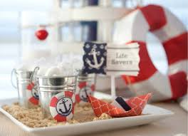 nautical baby shower decorations use brown sugar in place of sand to decorate your party space it is
