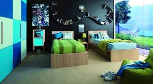 Black Color Bedroom Wall Decorating For Teens - Blue and black bedroom ideas