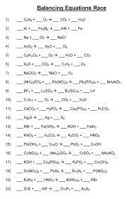 balancing equations practice worksheet answers worksheets