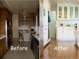 Galley Kitchen Makeovers - before and after kitchen makeover