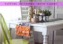 ruffled halloween table runner honeybear lane