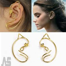 ear cuffs uk 1pairs beauty and the beast earrings ear cuff gold