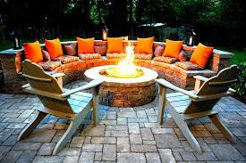 backyard with led lights and outdoor fire pit warm and useful