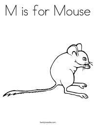 mouse coloring twisty noodle