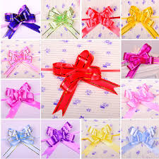 pull ribbon 5 6cm x 146cm large pull pom pom bows wedding car gift box