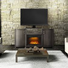 whitney electric fireplace tv stand in grey wash finish nefp24
