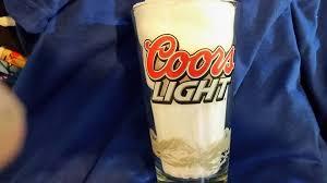 coors light cold hard facts coors light pint beer glass by libby coors light pint beer glass