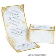 Wedpics Invite Cards Ferns Of Gold Seal And Send Invitation Ann U0027s Bridal Bargains