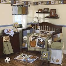 Sports Themed Crib Bedding Sports Fan 9 Baby Crib Bedding Set With Bumper
