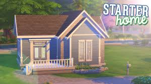 the sims 4 speed build tiny starter home youtube