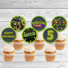 tmnt cake topper tmnt turtles cupcake toppers tmnt turtles birthday
