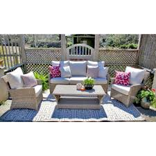patio drainage problem safavieh rocklin teak look 4 piece patio conversation set with