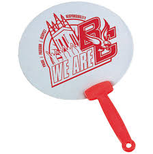 promotional fans fans promotional with plastic handle trigon international
