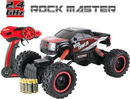 remote control monster truck videos amazon com large rock crawler rc car 12 inches long u2013 4x4