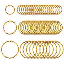 gold metal rings images Outus 50 pieces loose leaf binder rings gold metal book key rings jpg