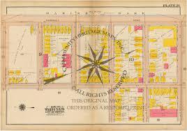 Boston Road Map by Antique Atlas Map Print South Boston Massachusetts 1919