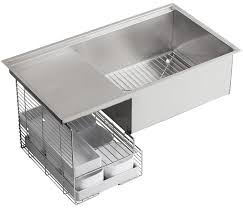 Kitchen Sink Image by Kohler K 3760 Na Stages 33 Inch Stainless Steel Kitchen Sink