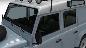 land rover defender interior land rover defender 110 utility station wagon w interior 3d model