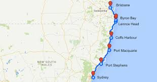 Road Trip Map Sydney To Brisbane Road Trip Diary